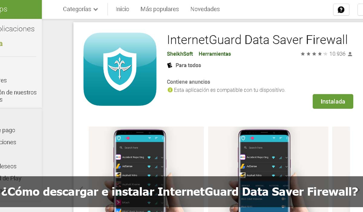 Como descargar e instalar InternetGuard Data Saver Firewall